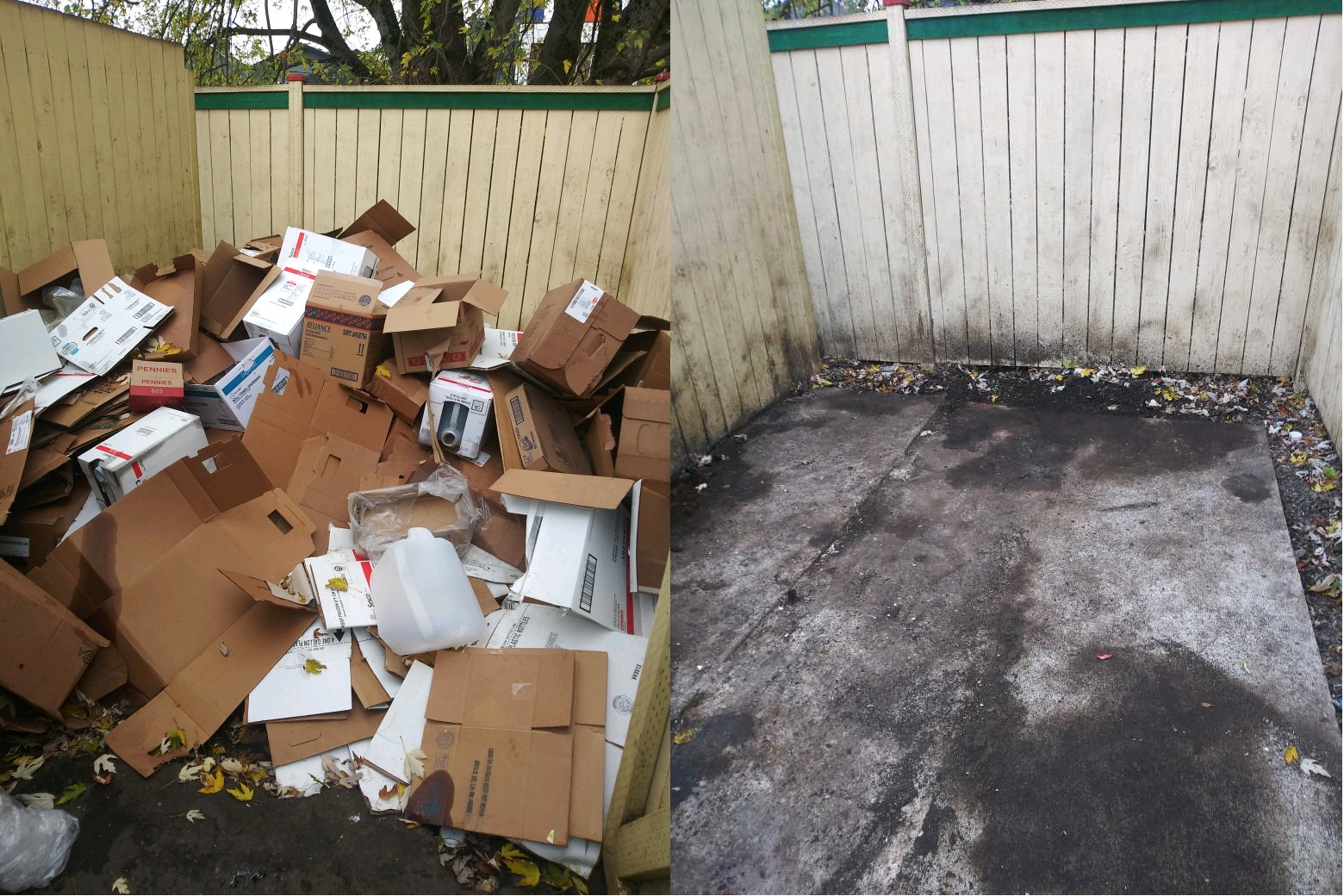 Junk B Gone - Before and After Junk Removal